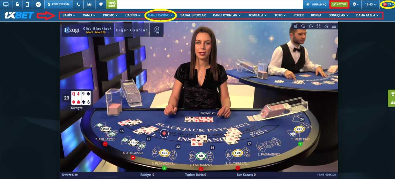 Casino 1xBet onebahis